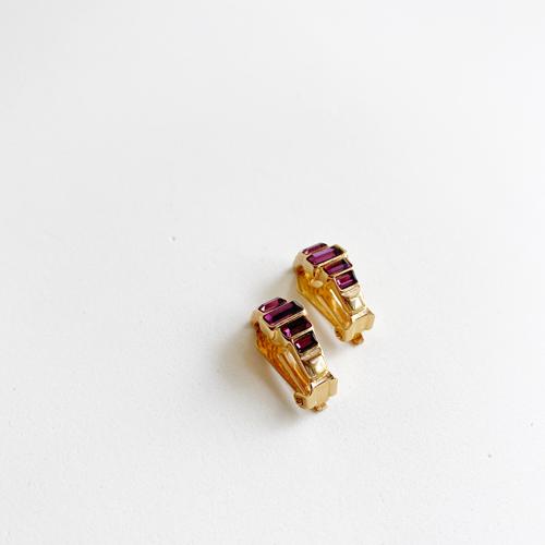 argolla violeta y dorada de cllip