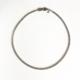 collar corto de cadena plateado