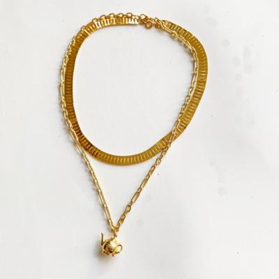 conjunto collares dorado