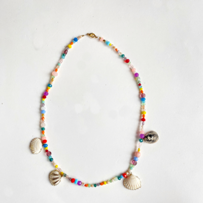 collar corto multi color con cristales