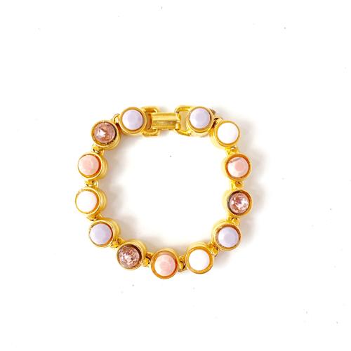 pulsera dorada de cristales