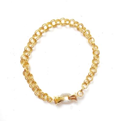 collar corto cadena doble dorado
