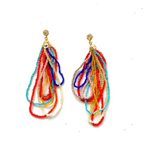 aros multicolor mostacillas