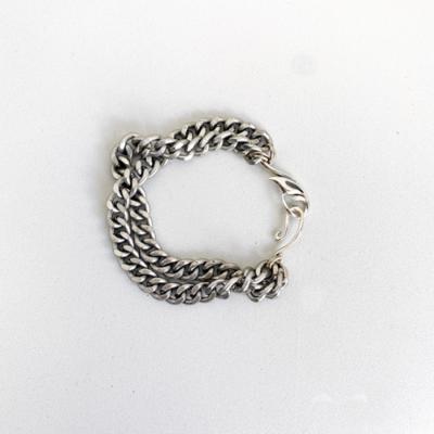 pulsera de cadena plateada
