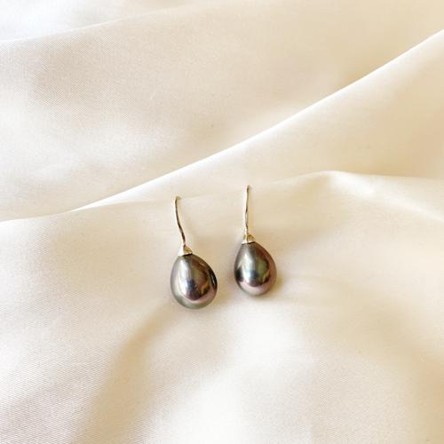 aros gota de perlas