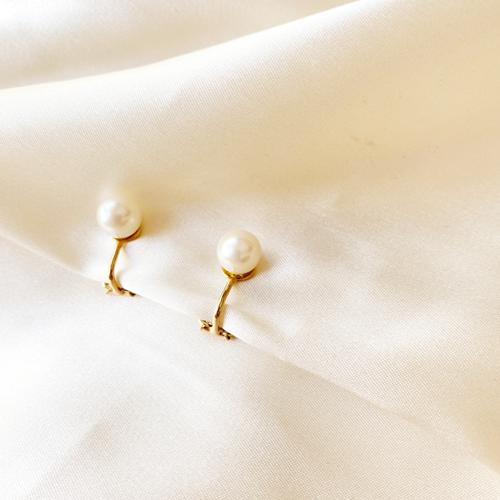 aros de perla con clip