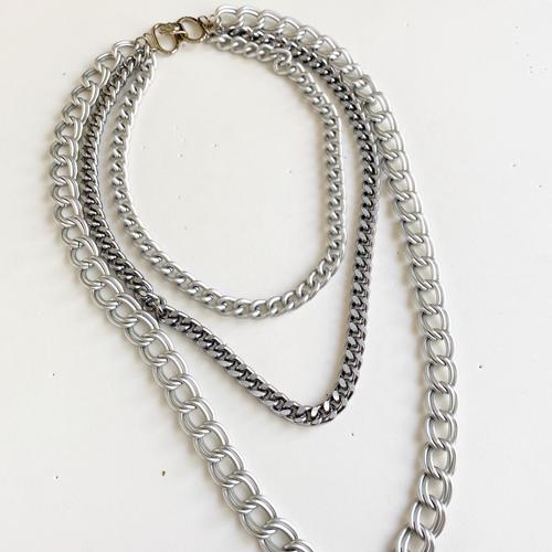 collar cadena plateado