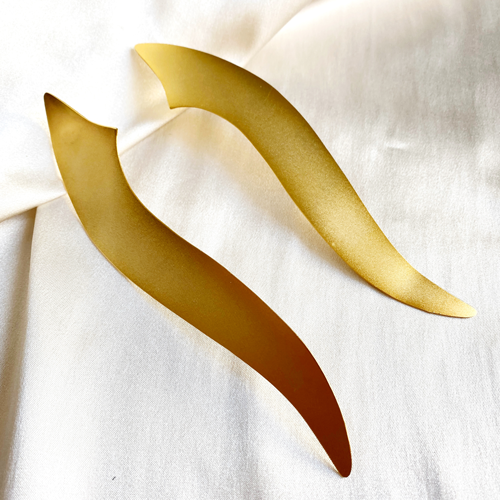 aros largos dorados