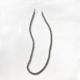 porta barbijos de cadena plateada