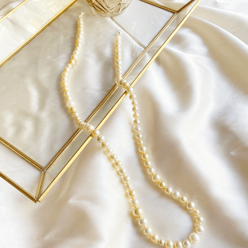 porta barbijos de perlas