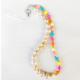 strap de perlas y cuetas de resina