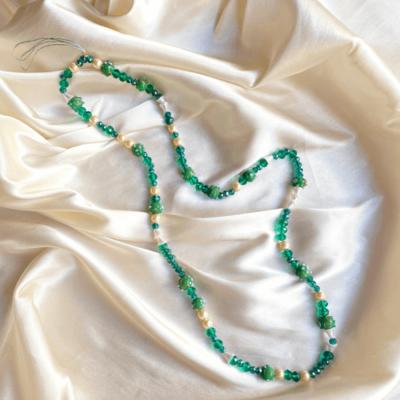 strap de cristales verdes larga