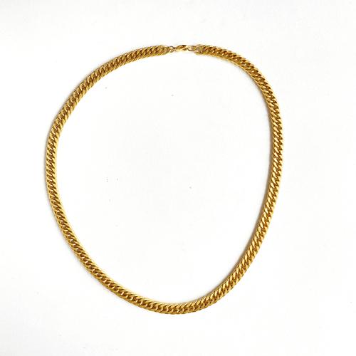 collar corto cadena opaca