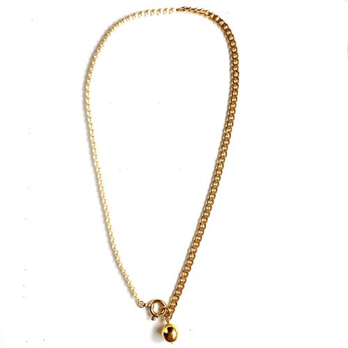 collar largo perlas y cadenas