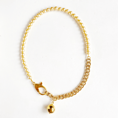 collar corto perla y cadena