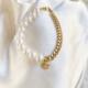 puslera con perla y cadena