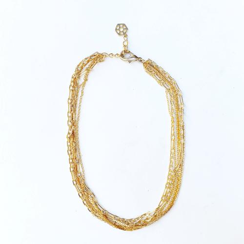 collar cadena dorado