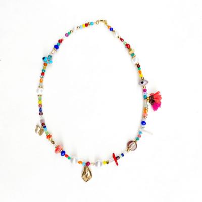 collar corto multicolor