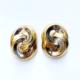 aros cortos dorados de clip