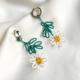 aros con flores margaritas
