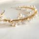 vincha de perlas y cristales