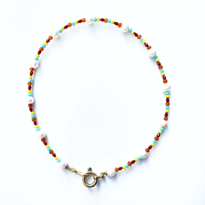 collar perlas con cristales
