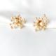 aros cortos de perlas