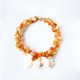collar naranja con beige de resina