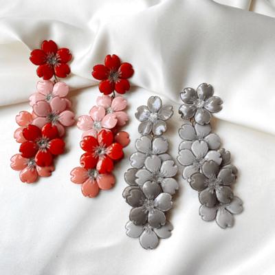 aros de flores de resina