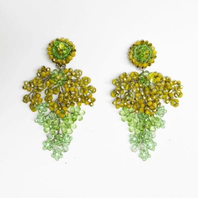Aros rama cristal verde