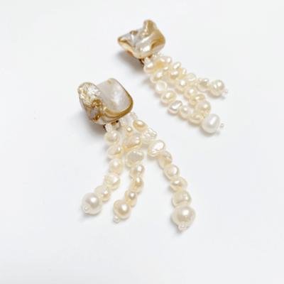 aros de perlas con clip